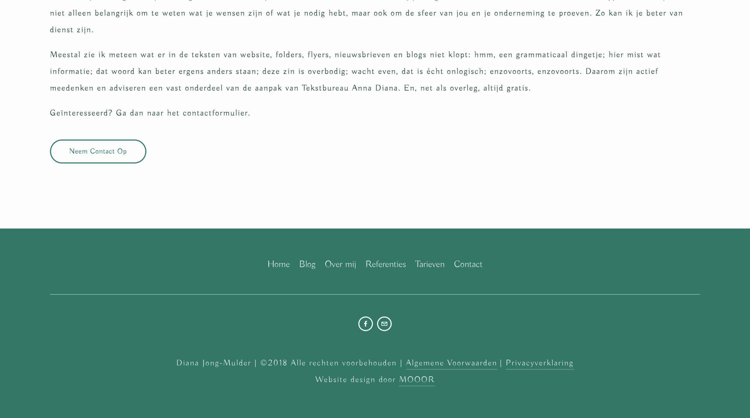 Extended menue in footer