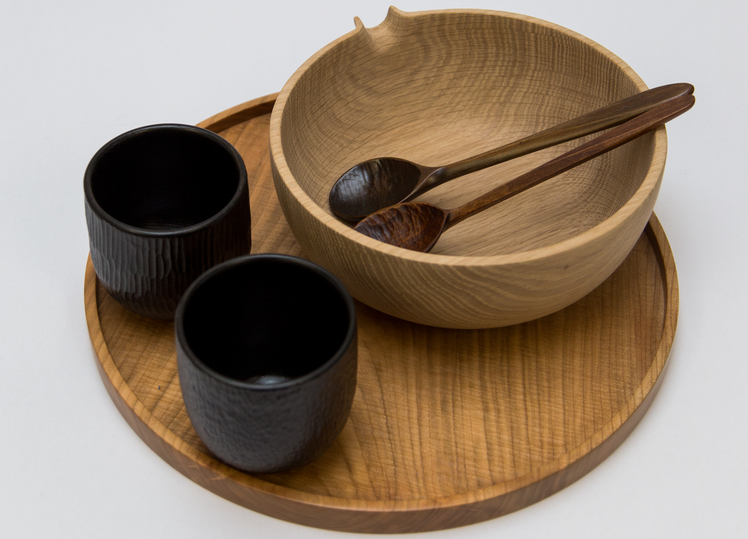 Takahashi McGil - Pouring Bowls - £75Hand-carved Spoons - £20 Urushi (Japanese Lacquered) Cups - £59Buy at Takahashi Mcgil's Cockington Court studio and visit their online shop https://www.takahashimcgil.com/shop
