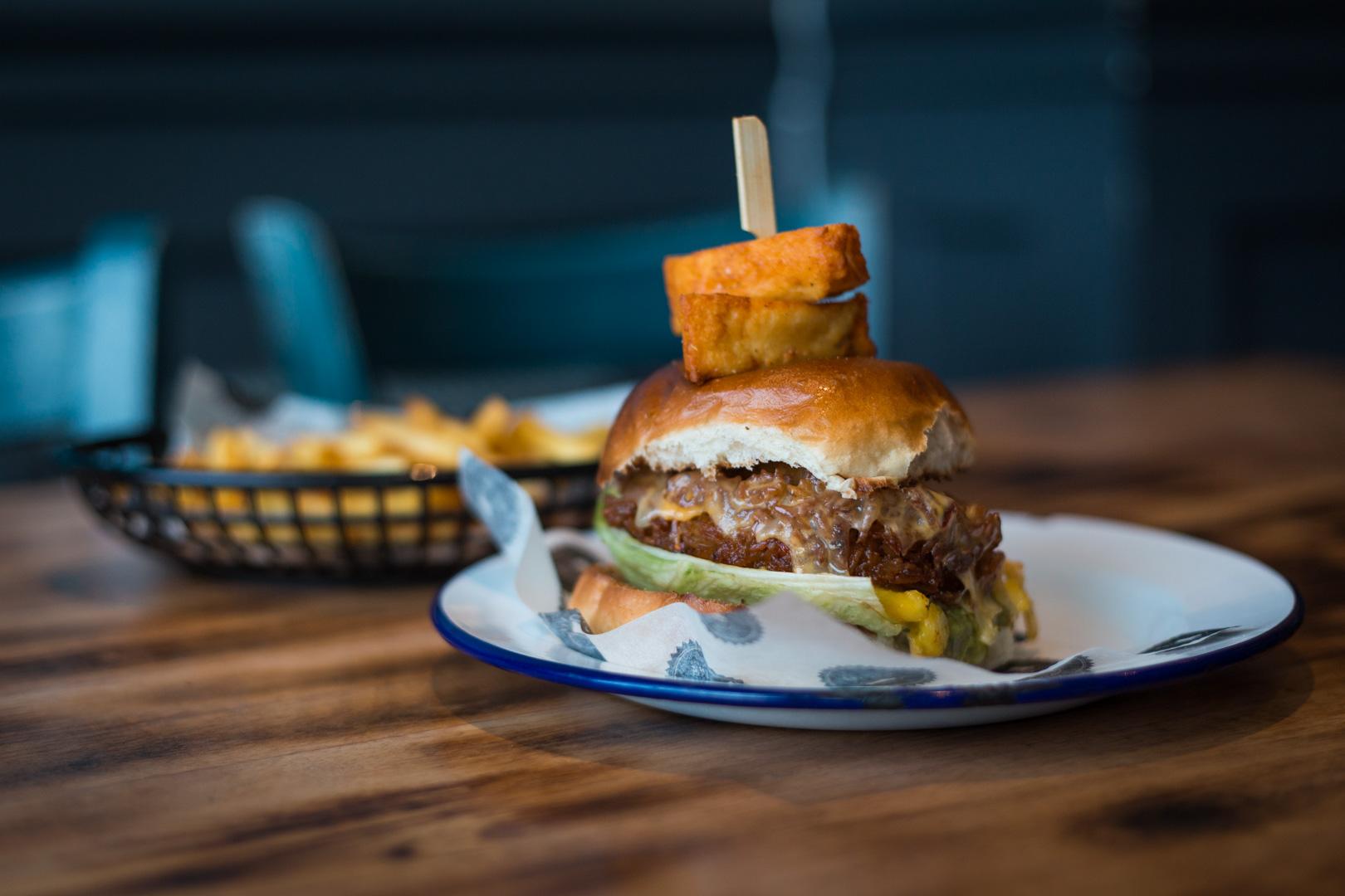 Vegan Rastaman with Skin on Fries | Fat Cow, Torquay