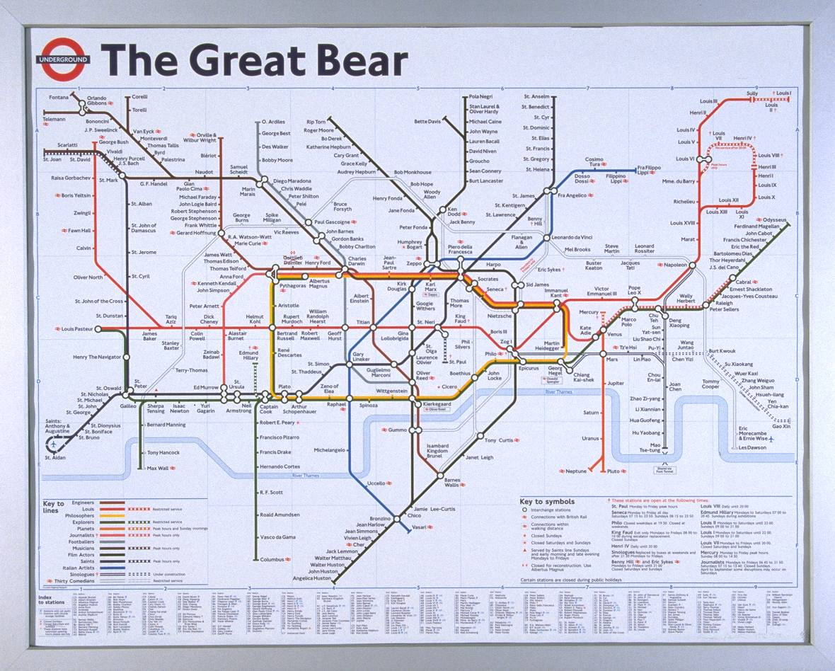 Simon Patterson, The Great Bear (1992) © the artist