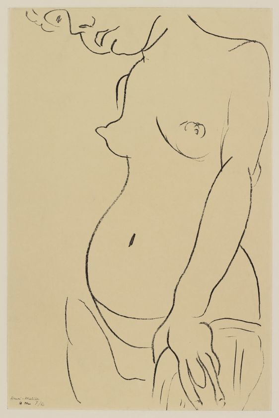 Henri Matisse, Torse Au Visage Coupe Torso, Face Partly Showing, (1912) © the artist