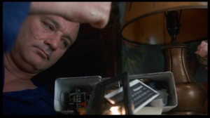 Bill Murray brilliantly smashing his clock in Groundhog Day. Columbia-Tristar.