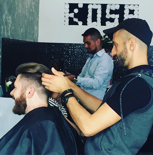 #montengronick in action . . . #kosanyc #menshair #undercut #salon #nyc #astoria