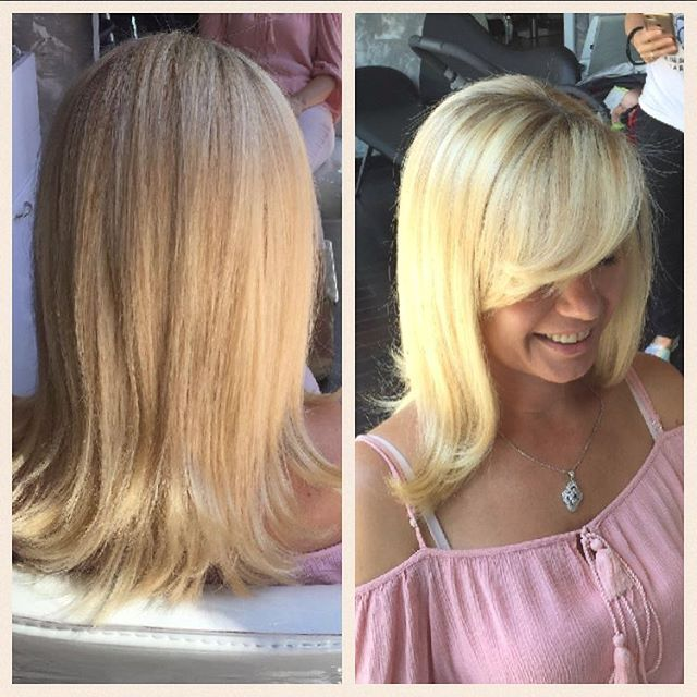 Blondes have more fun!  Great blow out from #stylisttanya . . . #kosanyc #salon #nyc #astoria  #blonde #womenshair #blowout #chic #monday