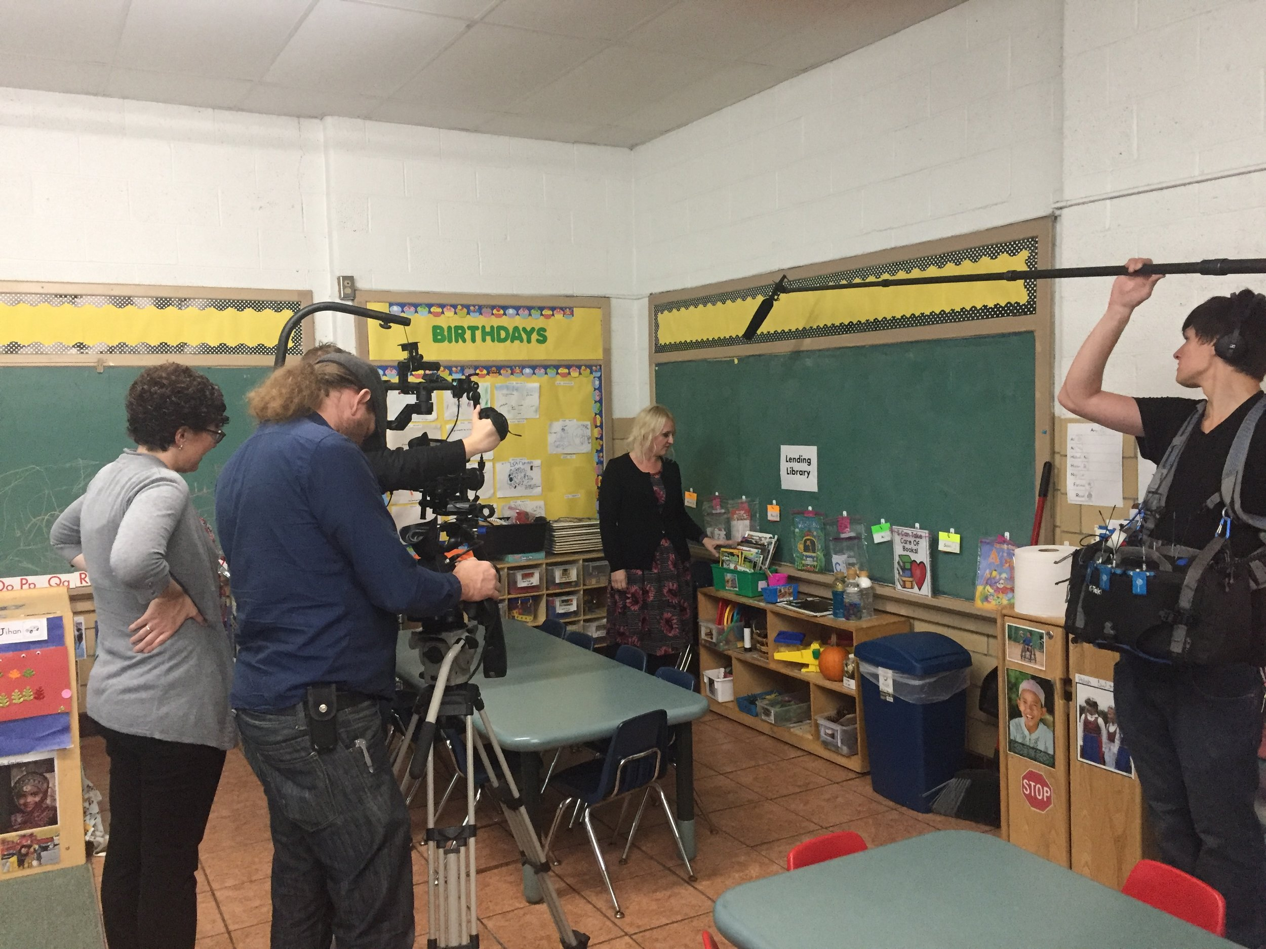 MDE was so impressed with our program they chose our classroom to tape a literacy training module to use with educators across the state!