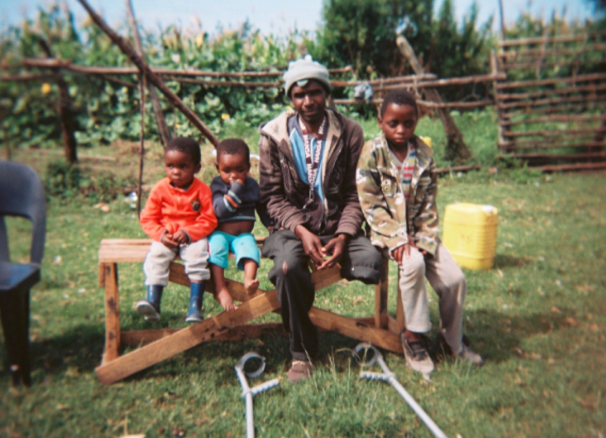 Eric from South Africa - with three of his sons