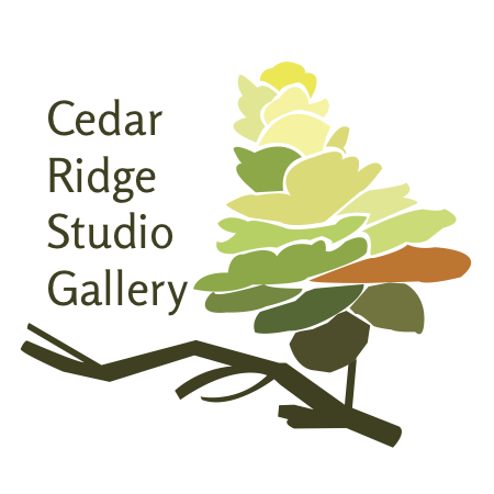 Cedar Ridge Studio Gallery is a multi-faceted art gallery in Toronto. Their previous logo was created in 1978. Along with a revised identity, this modernized logo was created to remark on the sylvan space, diversity in their new and emerging art, as well as nod to a large identifiable, permanent sculpture on the grounds of a cedar cone.