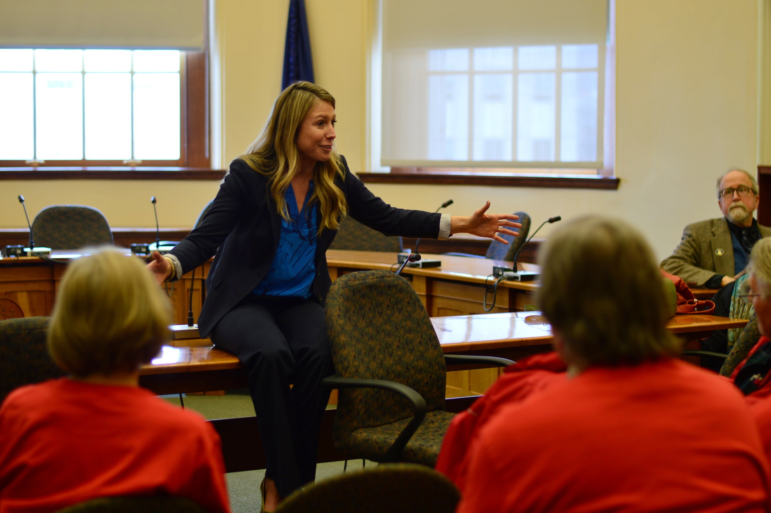 Erin serves as Senate co-chair of the Legislature's Aging Caucus which champions legislation to help Maine's seniors.