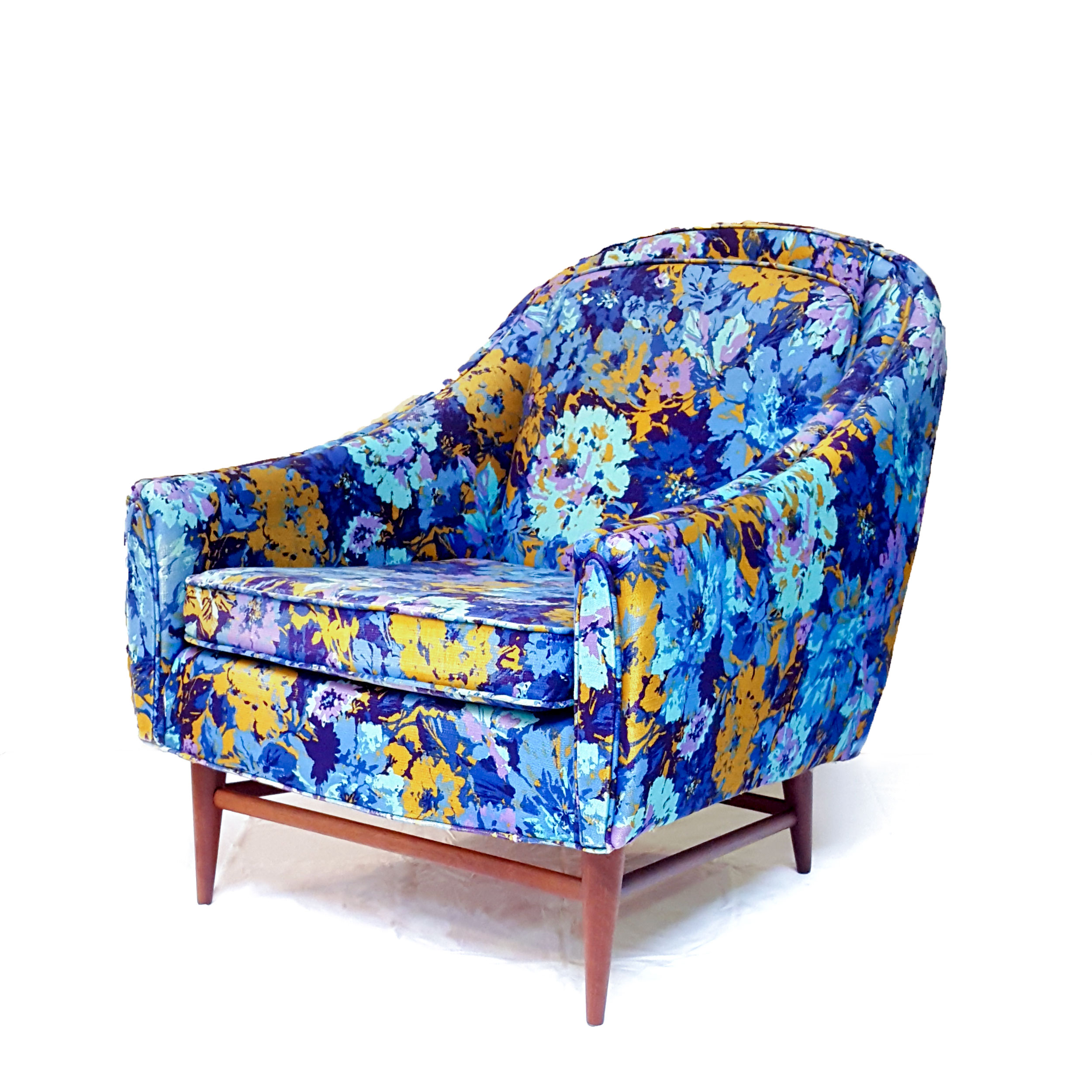 Circa Antiques | York, Pa | Showroom | Mid Century Modern Floral Chair