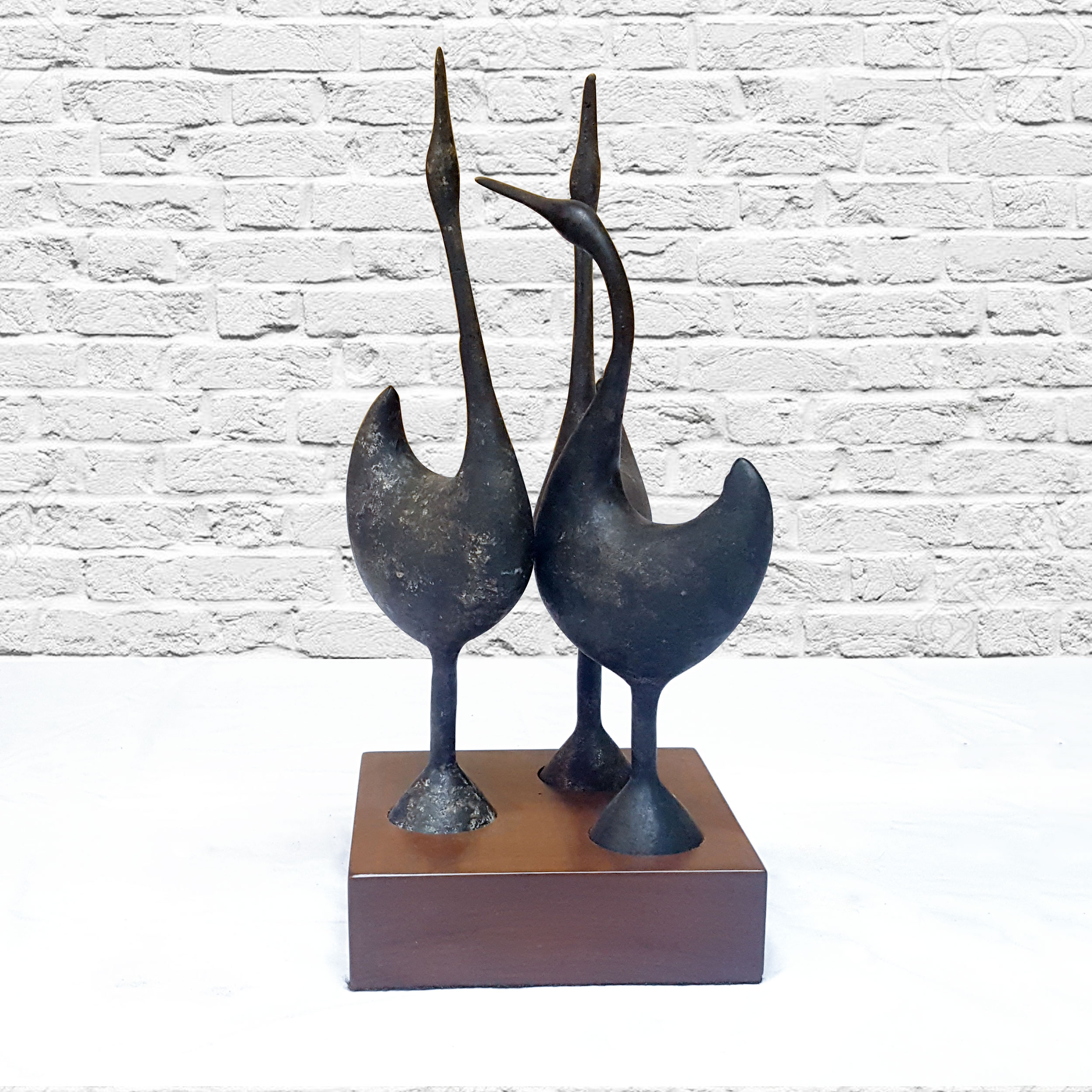 Circa Antiques | York, Pa | Showroom | Crane Cast Iron Sculpture