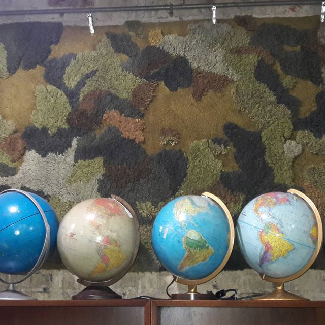 As the world turns. Just another collection.  Globes. #circaantiquesyork  #mcm  #aroundtheworld  www.circaantiquesyork.com