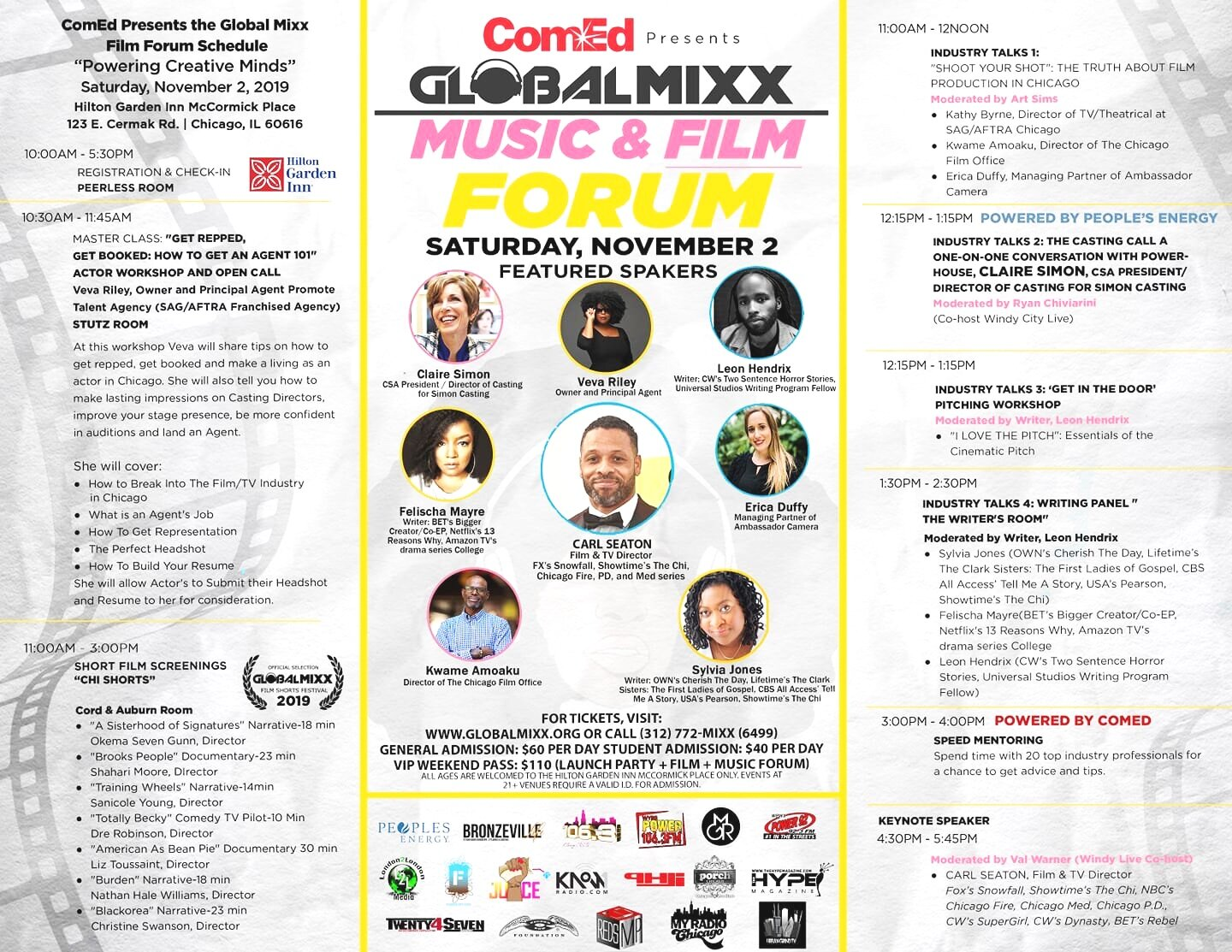 I was a guest on the ComEd Global Mixx Film Forum Speed Mentoring Panel.