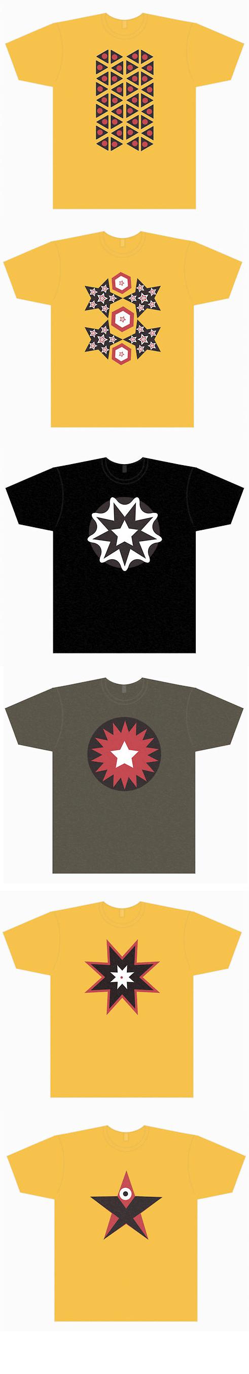 Star Tattoo Flash Inspired tshirts by Yoso Tattoo