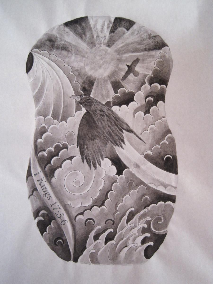Raven Tattoo Composition Yoso Tattoo Japanese Tattoo ňºé' Å®®å´Žå¸'
