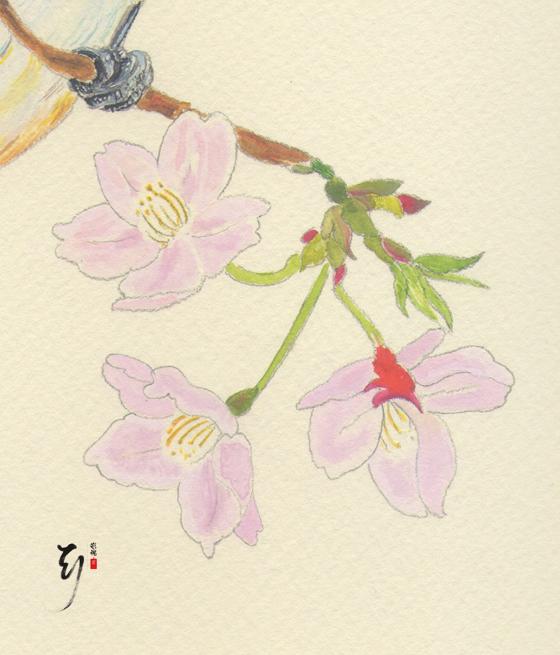 Birds & Cherry Blossoms Tattoo Flash