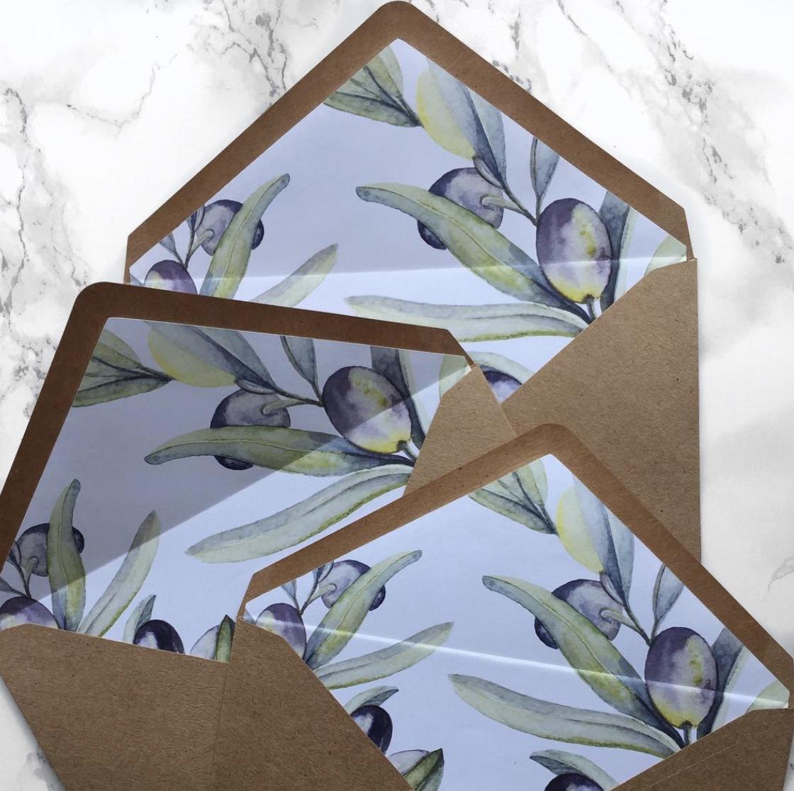 Paper Bag Prints Olive Branch Envelope