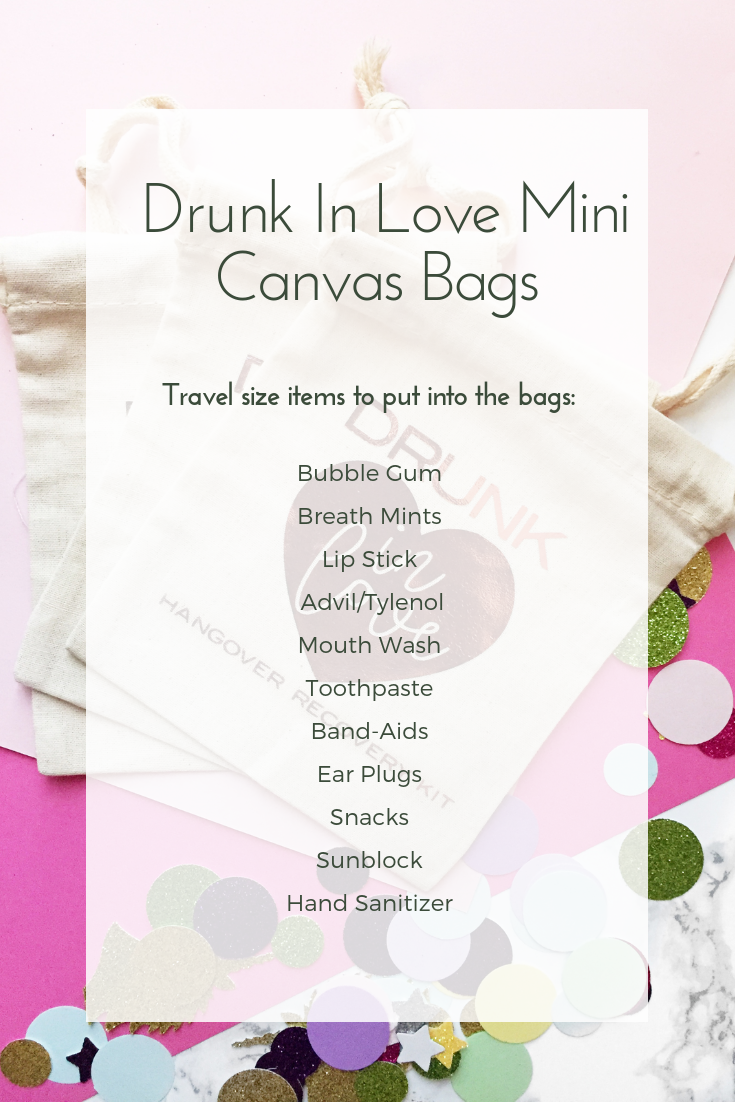 Drunk In Love Mini Canvas Bag