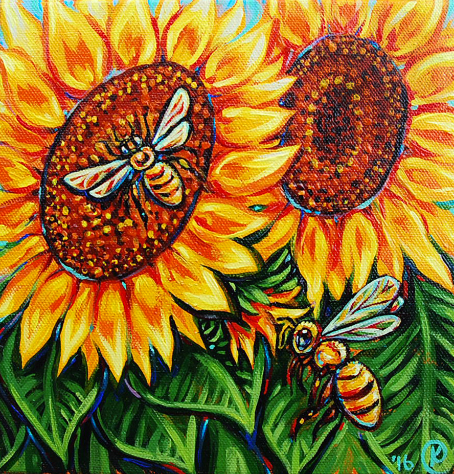 Sunny Bees 2016. Sold