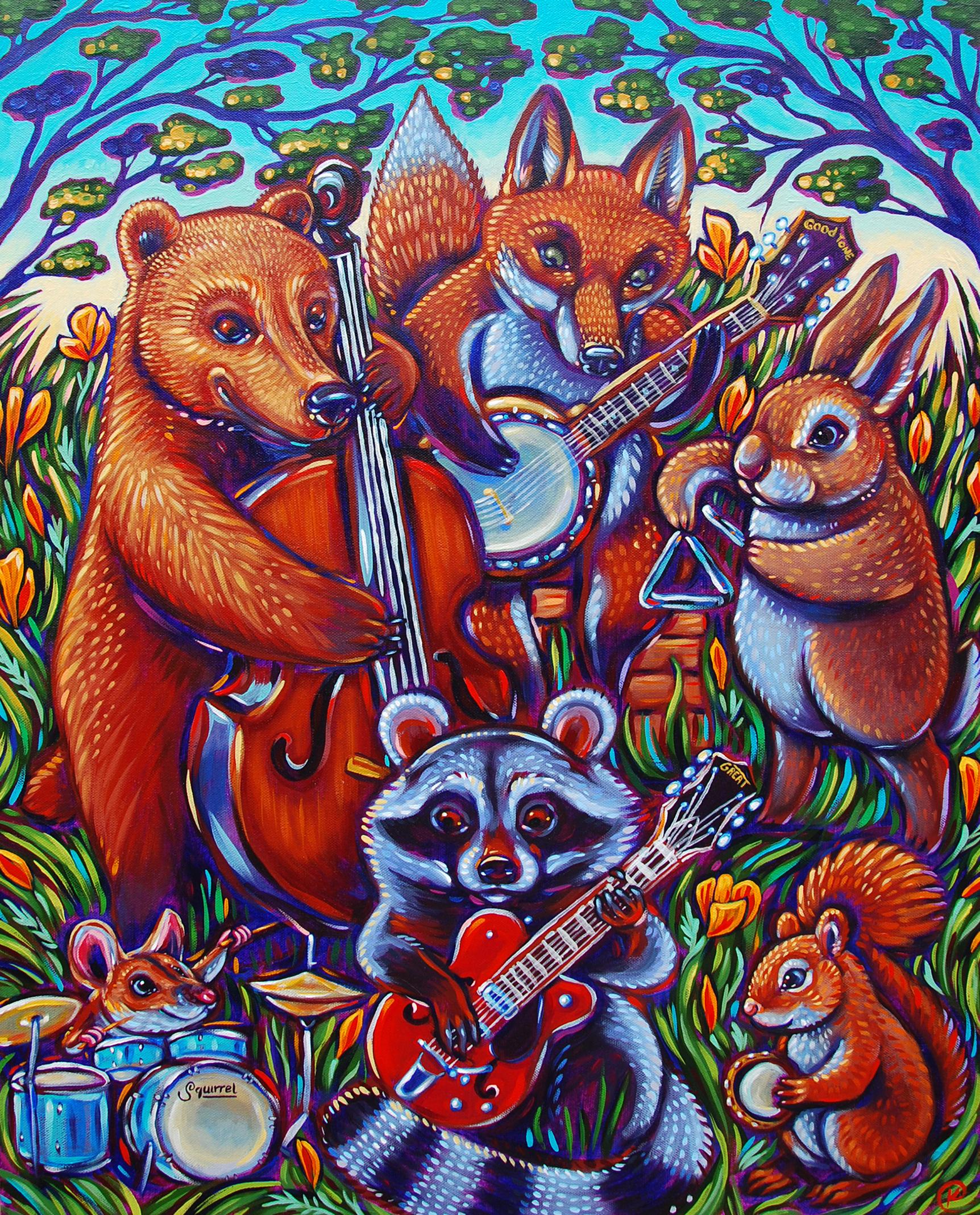 The Gary Oak Gang in Wildflower Wood