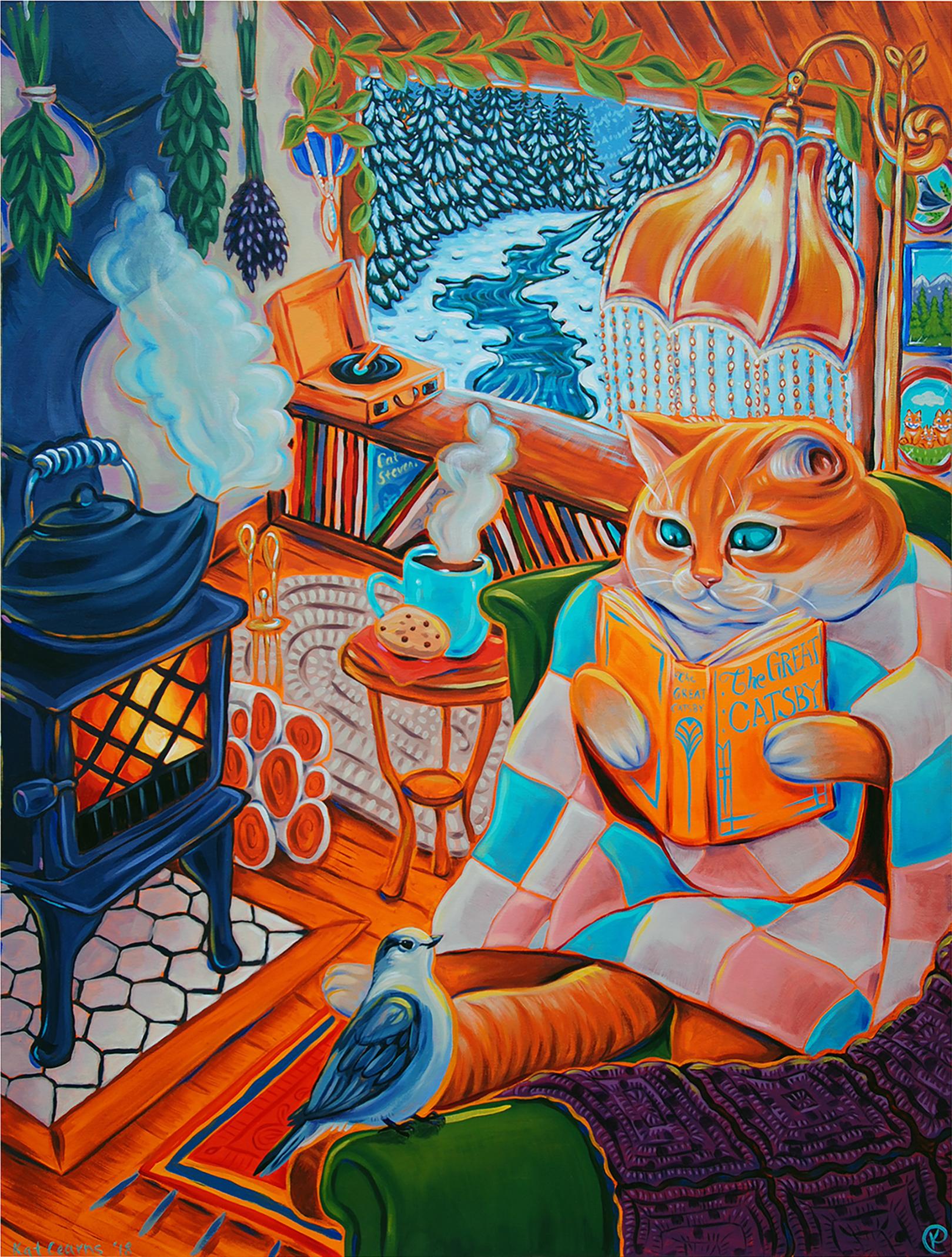 Hygge Cozy Cat