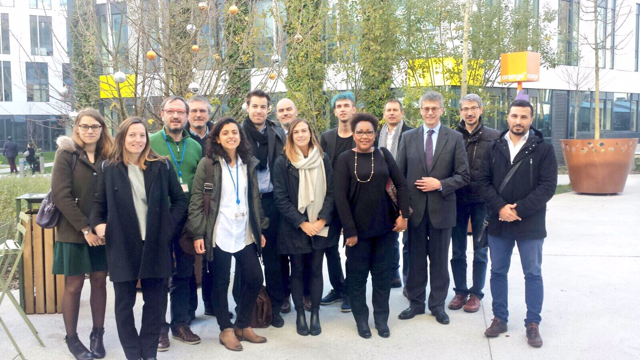 Representatives of the OPAL team including individuals from Data-Pop Alliance, Deloitte Digital, Imperial College London, MIT, Orange Labs, Orange-Sonatel and Telefónica.