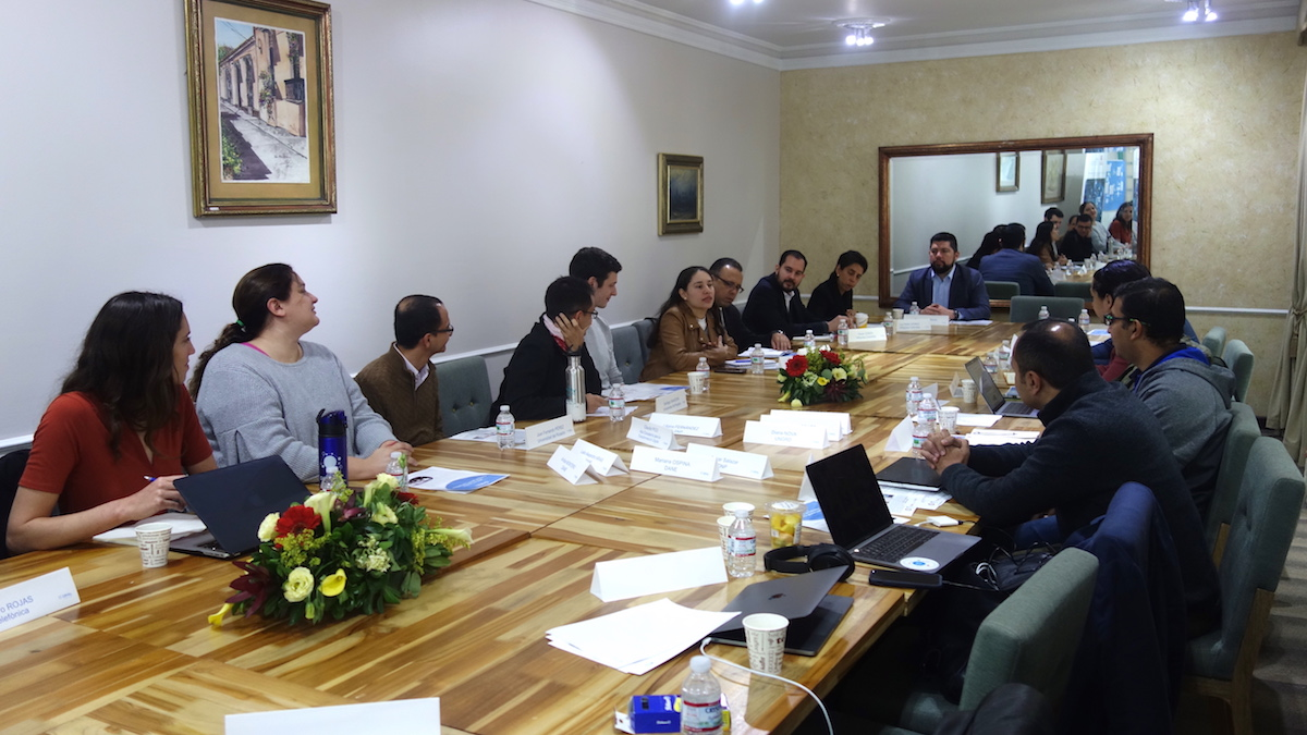 The training was held at the Universidad del Rosario in Bogota, Colombia