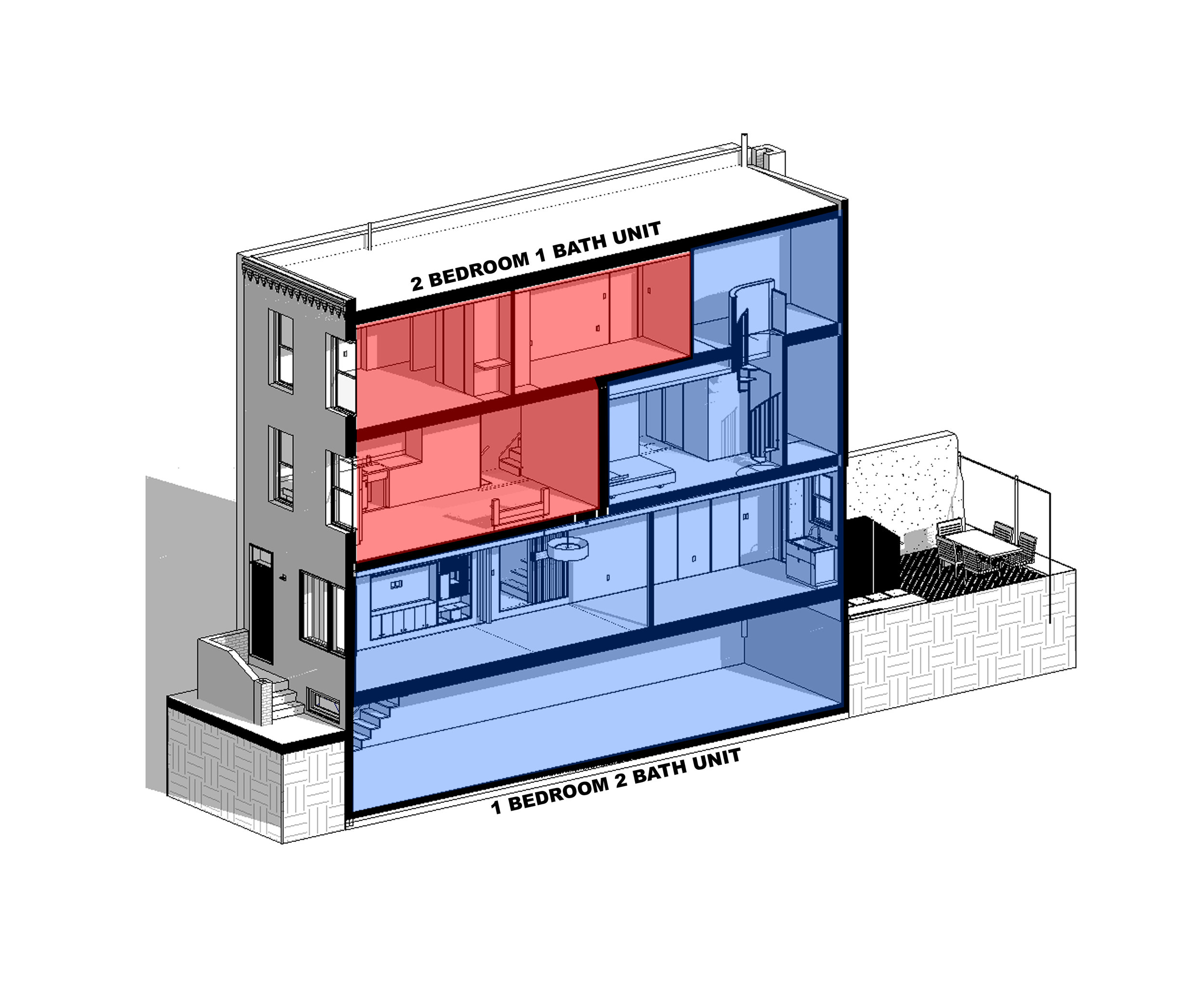 2-FAMILY DIAGRAM - OOMBRA ARCHITECTS ©