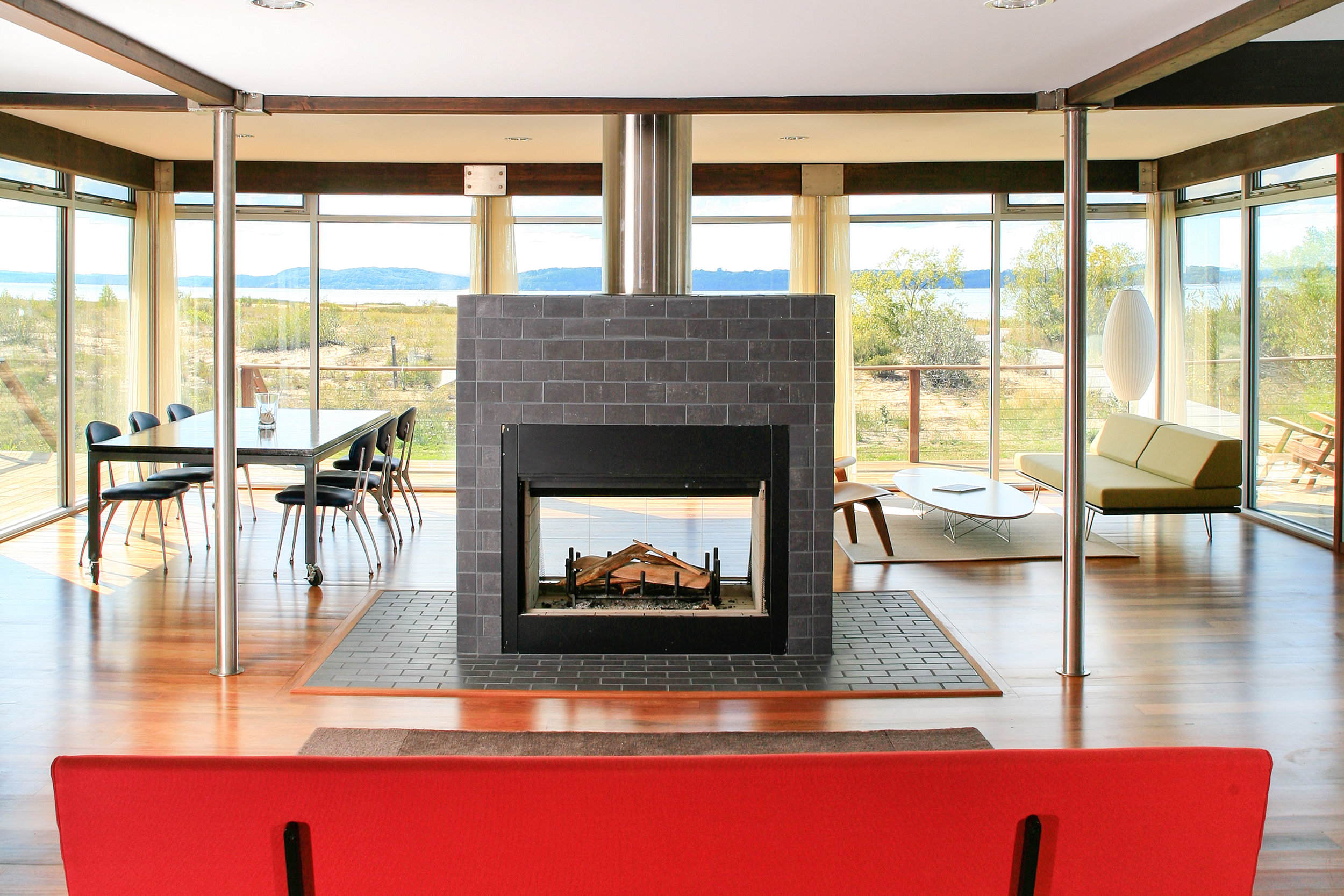 CARLSON CABANA LR FIREPLACE - OOMBRA ARCHITECTS
