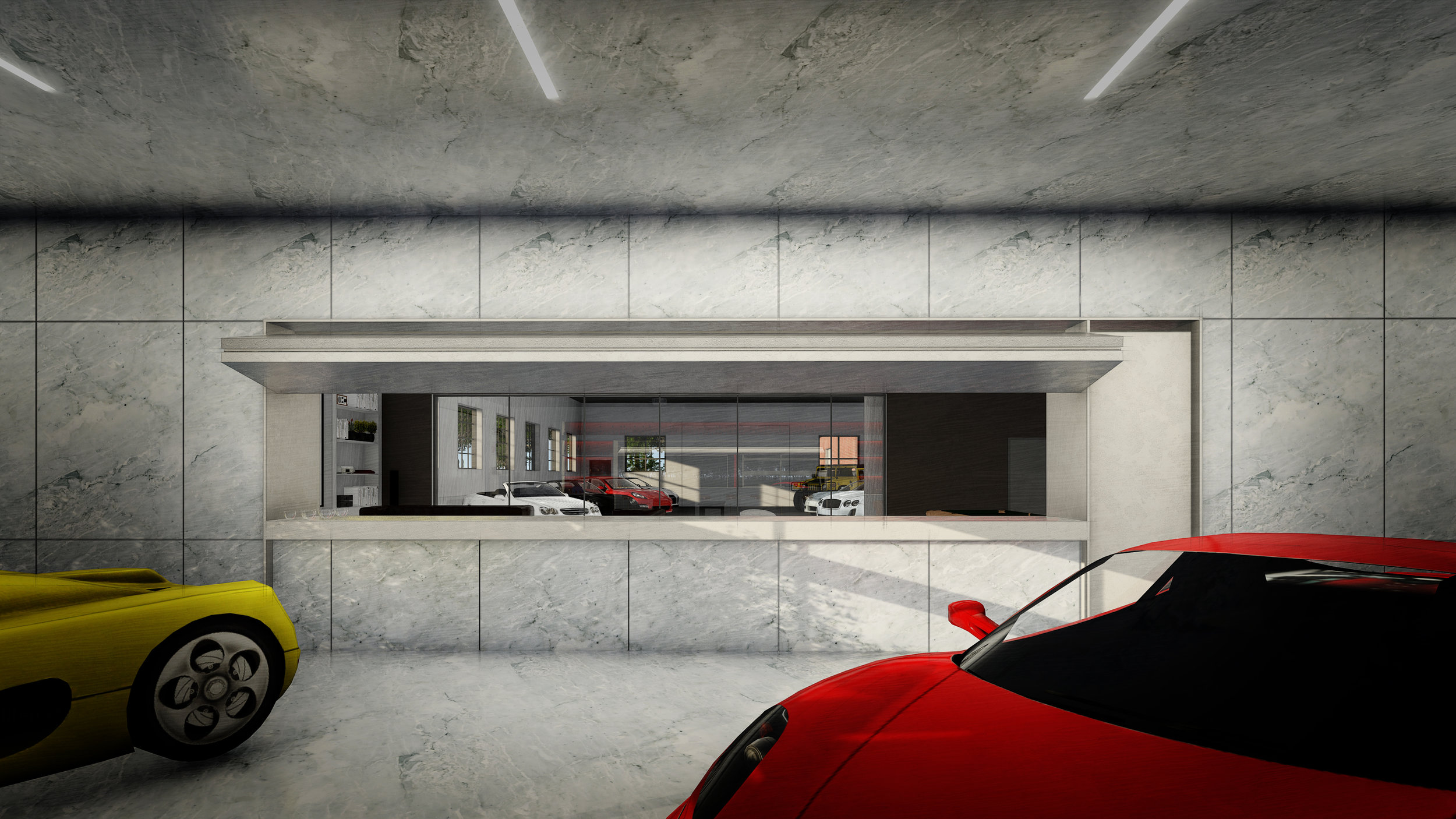 VIEW TOWARDS CLUBROOM - OOMBRA ARCHITECTS ©