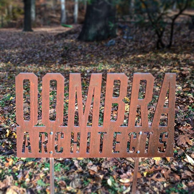 ADAPTing to the season  #oombra #architects #architecture #adapt #signage #weatheredsteel #corten