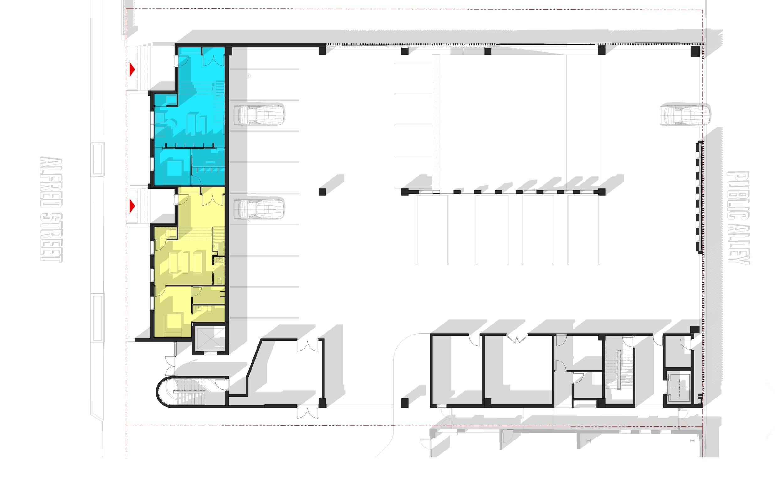 105 ALFRED GROUND LEVEL PLAN  - OOMBRA ARCHITECTS ©