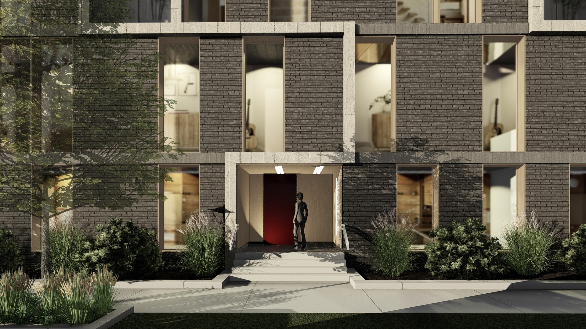 105 ALFRED ELEVATION ENTRY  - OOMBRA ARCHITECTS ©