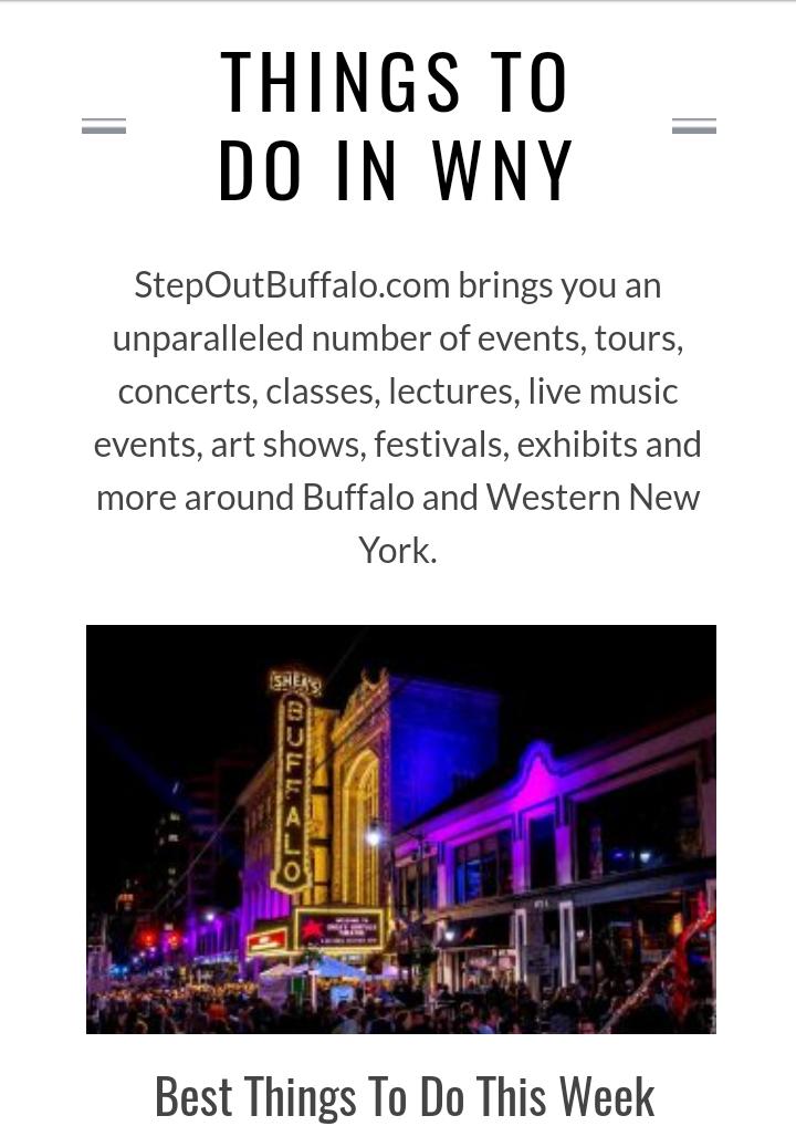 Step Out Buffalo Website