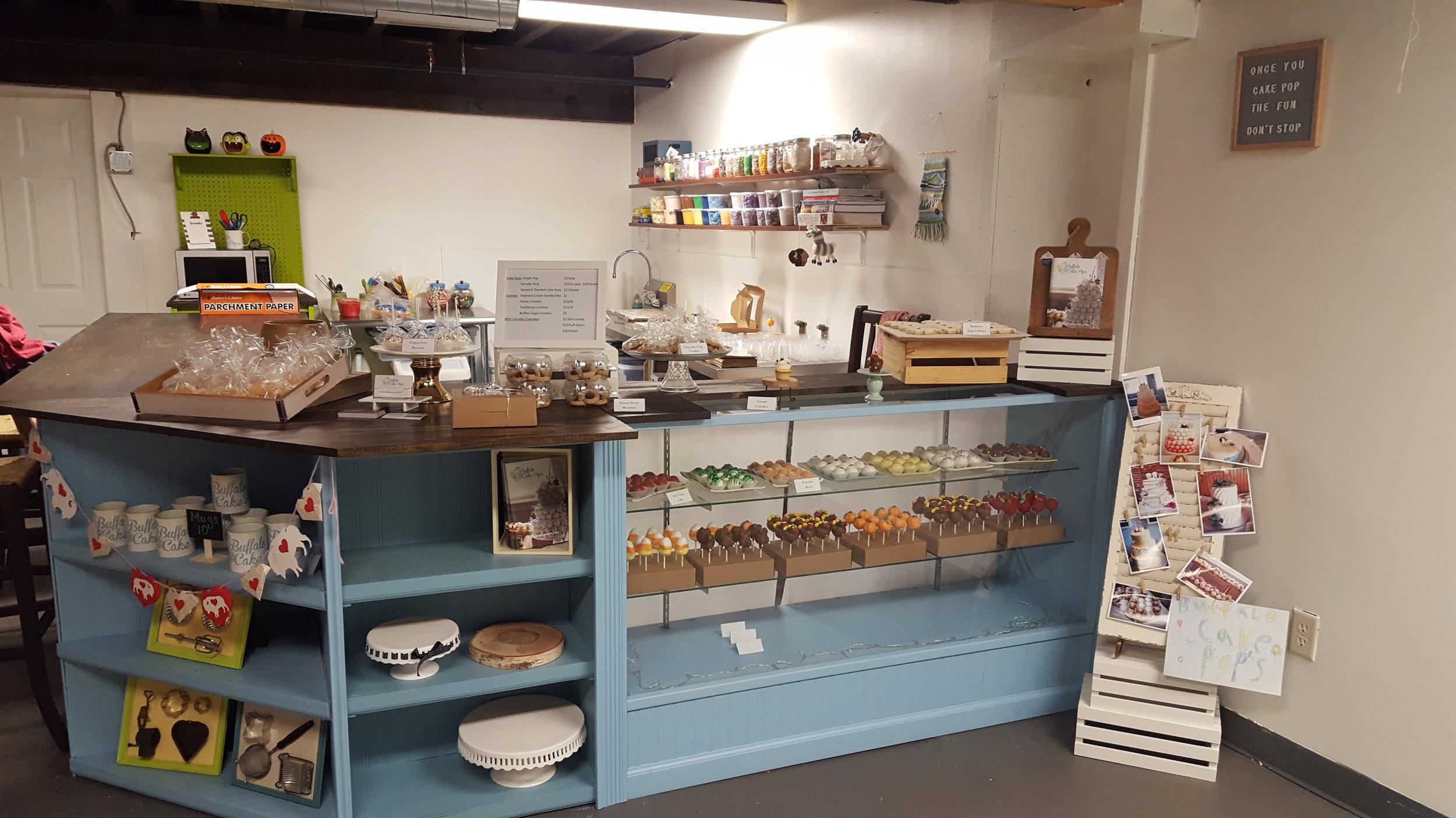 Buffalo Cake Pop's Bakery Space inside Horsefeathers Marketplace