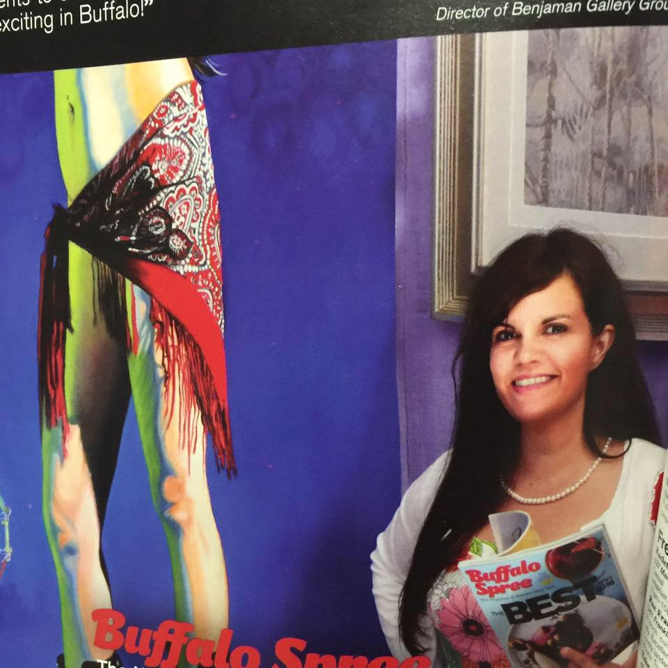 A photo of Emily for her spread as a Buffalo Spree Ambassador Photo Credit KC Kratt