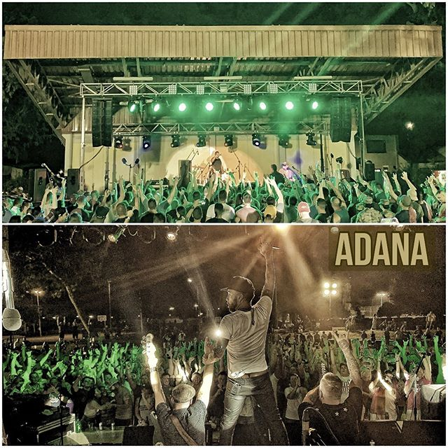 First time ever in Turkey! So great to hang with our Service Members in Adana. Thank you all so much for your hospitality! We had an incredible time. . . . Thanks to our crew, the local crews and of course @armedforcesent for bringing us over for this amazing opportunity. . . Top 📸 by @apathyowen  Bottom 📸 by @jae_robinson_ . . #litbandofficial #litband #adana #armedforcesentertainment #turkey