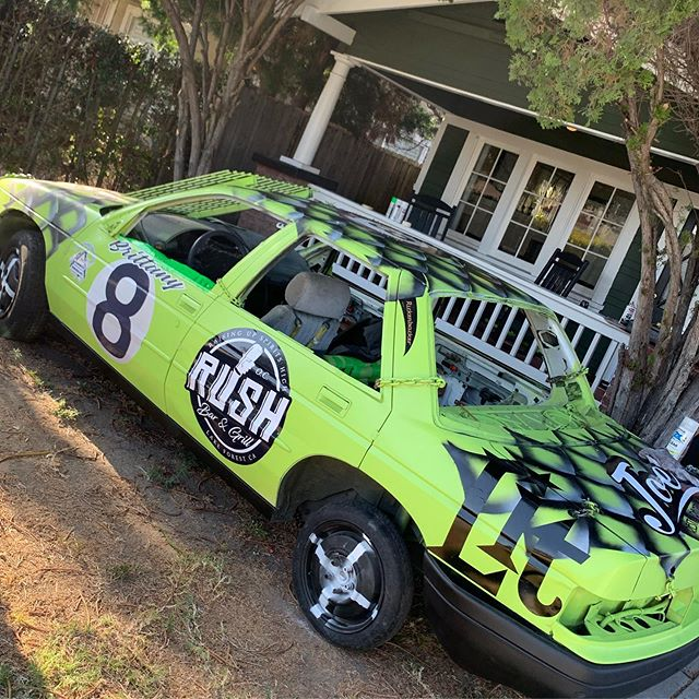 If you hit up the @oc_fair on Saturday, make sure you cheer on our girl Brittany @brittpm @damselsofdestruction demolition derby!  It's gonna be crazy!  @joes_dtf #demolitionderby #damselsofdestruction #ocfair #carisinthefrontyard