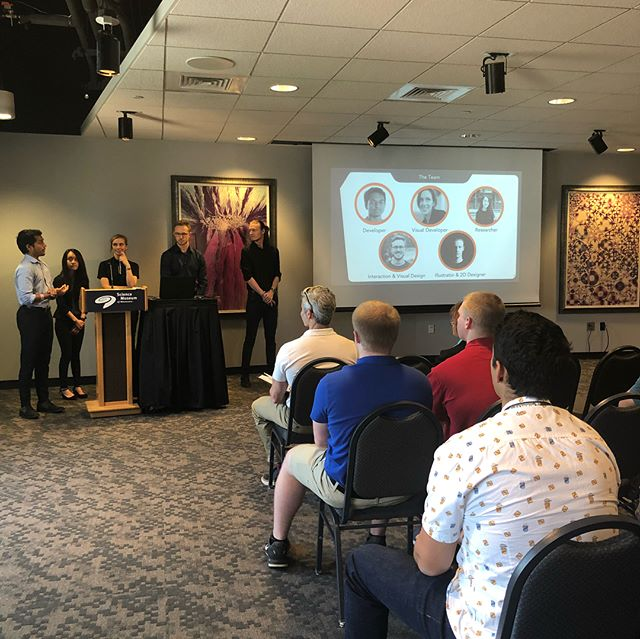 We are so proud of our summer interns! In only 11 weeks they conducted research, built a great #augmentedreality app, and tested app's UI and usability with the museum visitors! Here are some pictures from their final presentation!