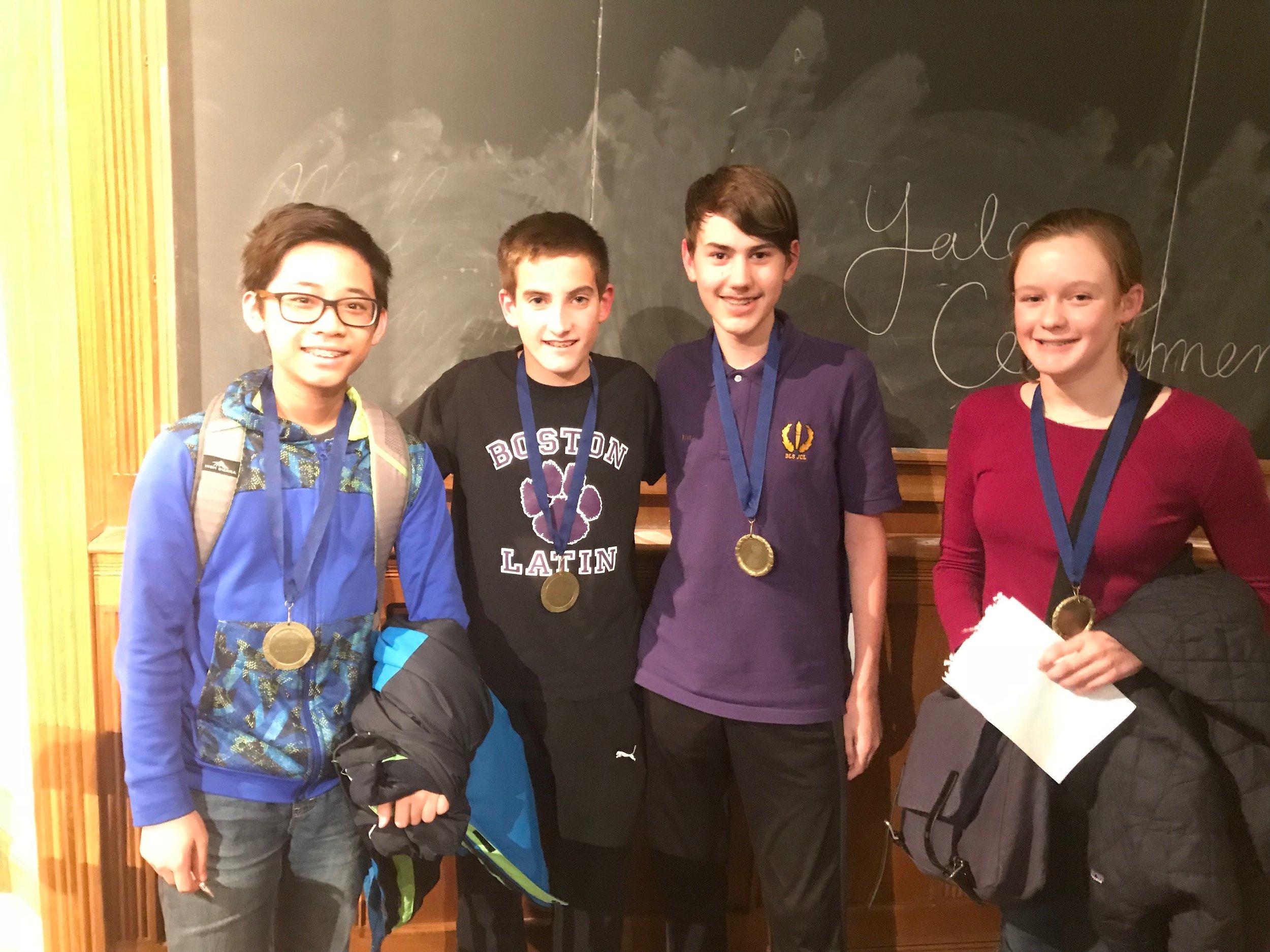 Boston Latin School 1 (MA) - First place, novice division