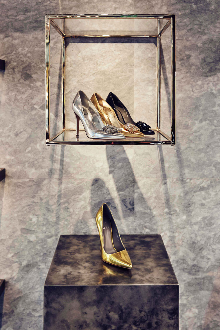 - Sumptuous gold, glamorous snakeskin, classic product silhouettes and beautiful detailing, combined with jaw dropping forensic 'precious stone' lighting, to create a truly elevated 'art gallery' brand world.