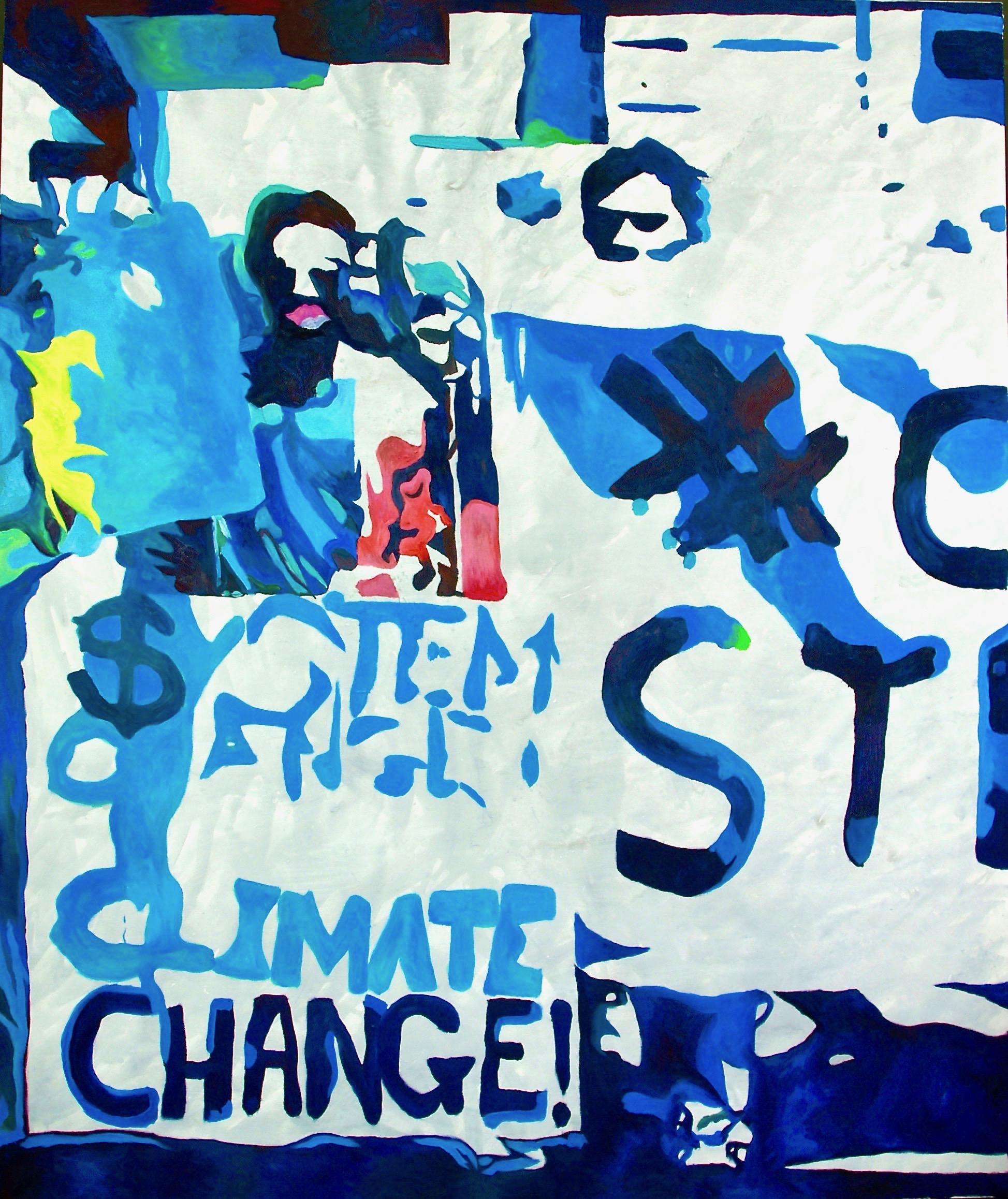 Climate change  2019 Acryl/Öl auf Leinwand  180 x 150 cm