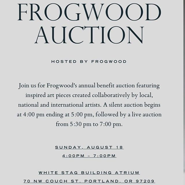 Frogwood Auction Invitation