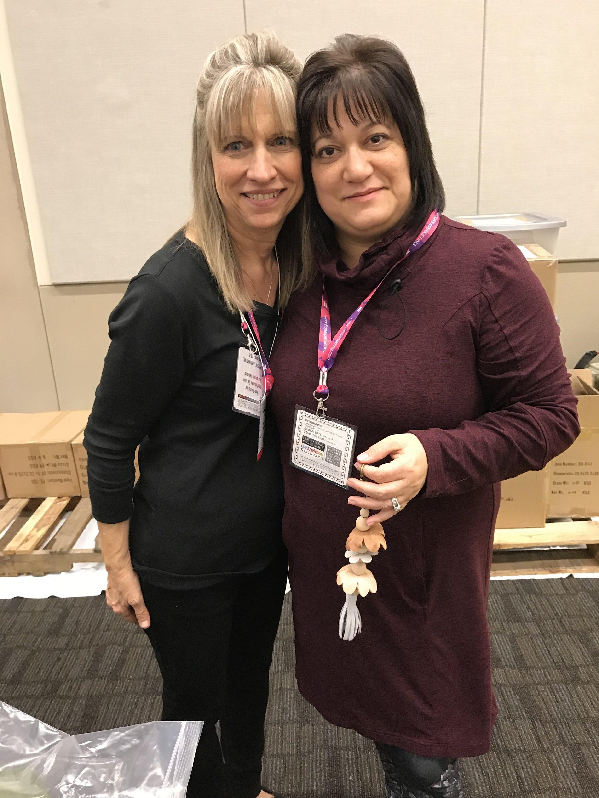 With Debi Adams