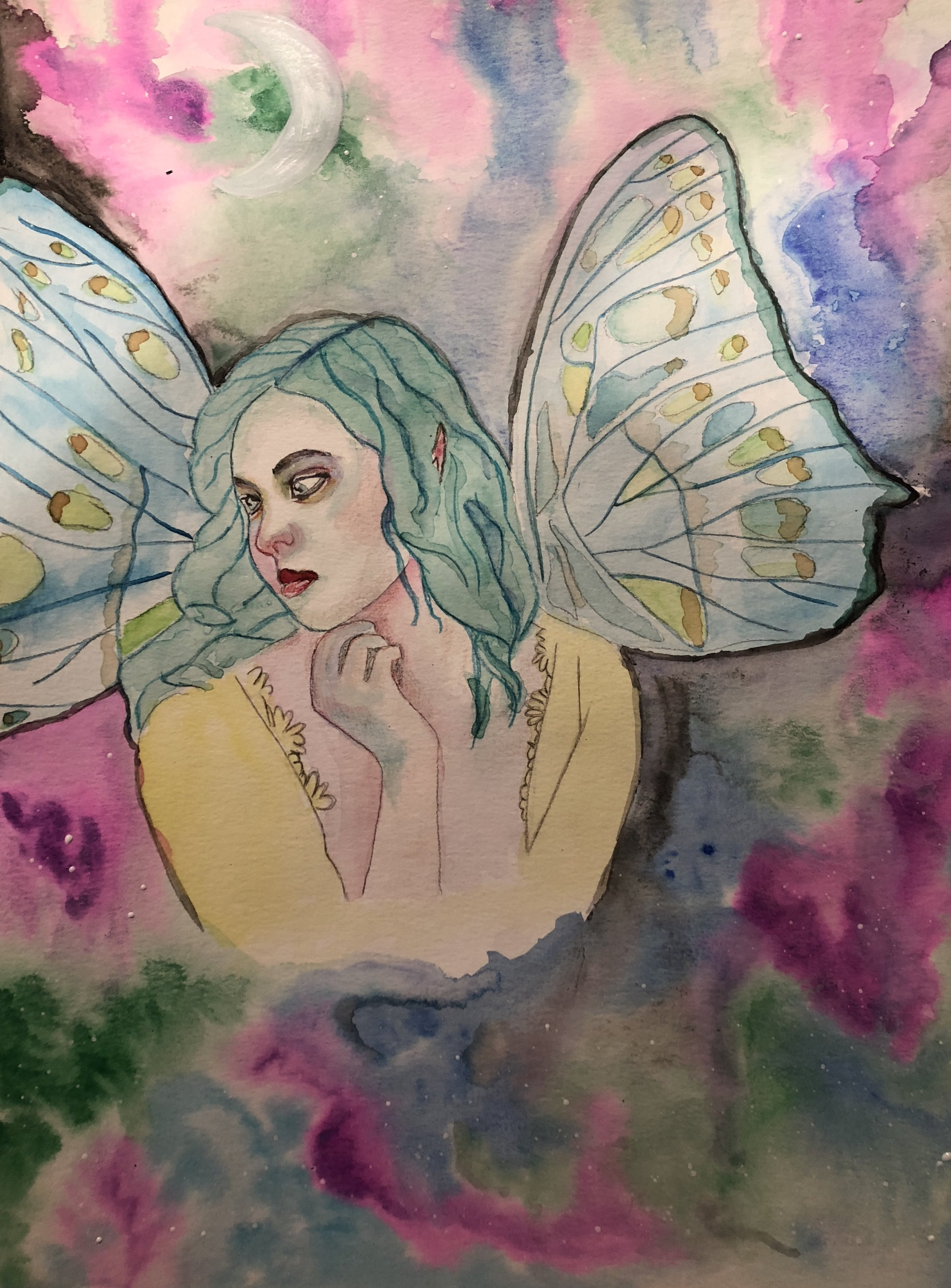 Watercolor faerie - lesson by Lucy Brydon.