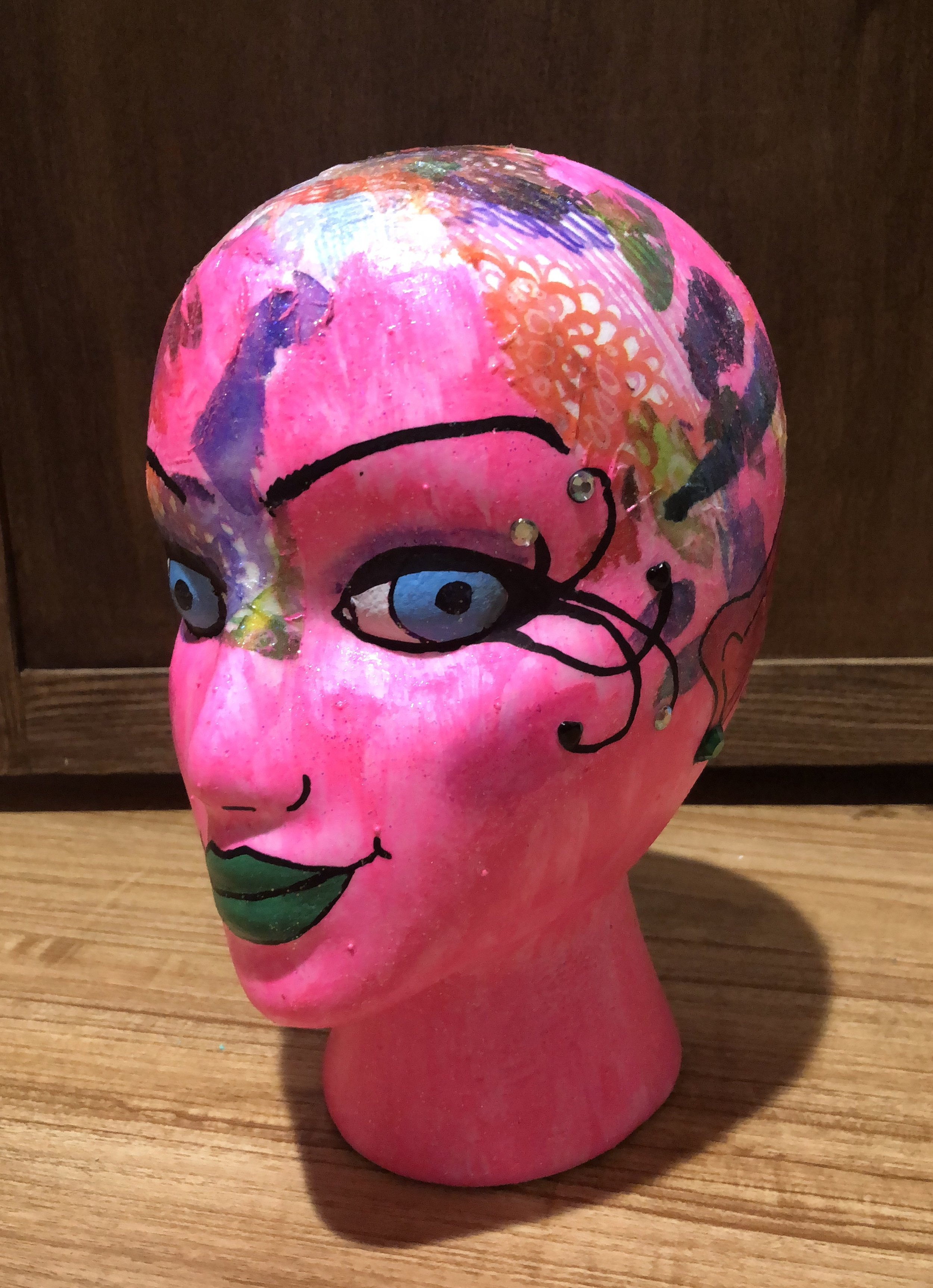 Faerie foam head - lesson by Karen Campbell