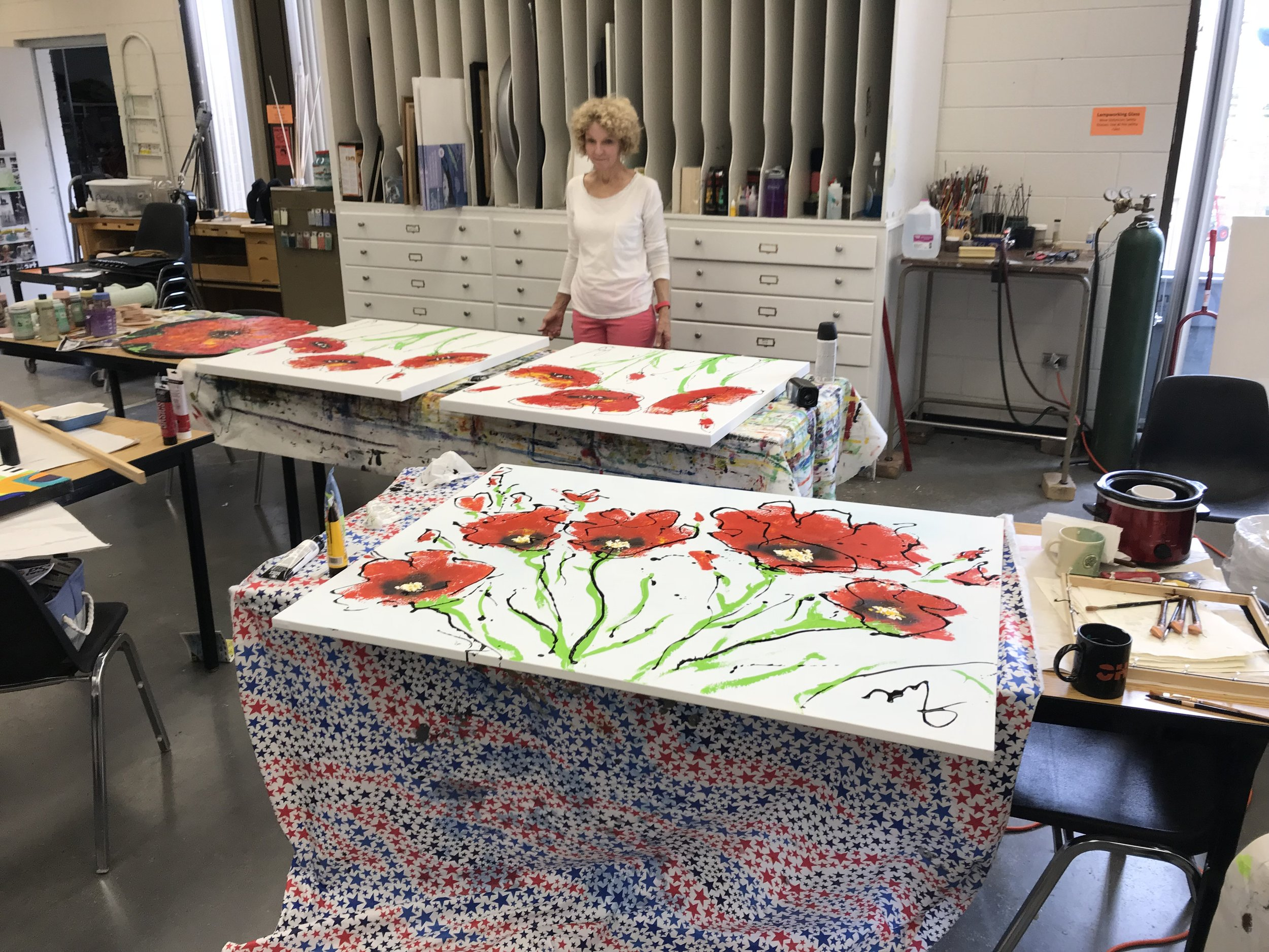 Poppies under production