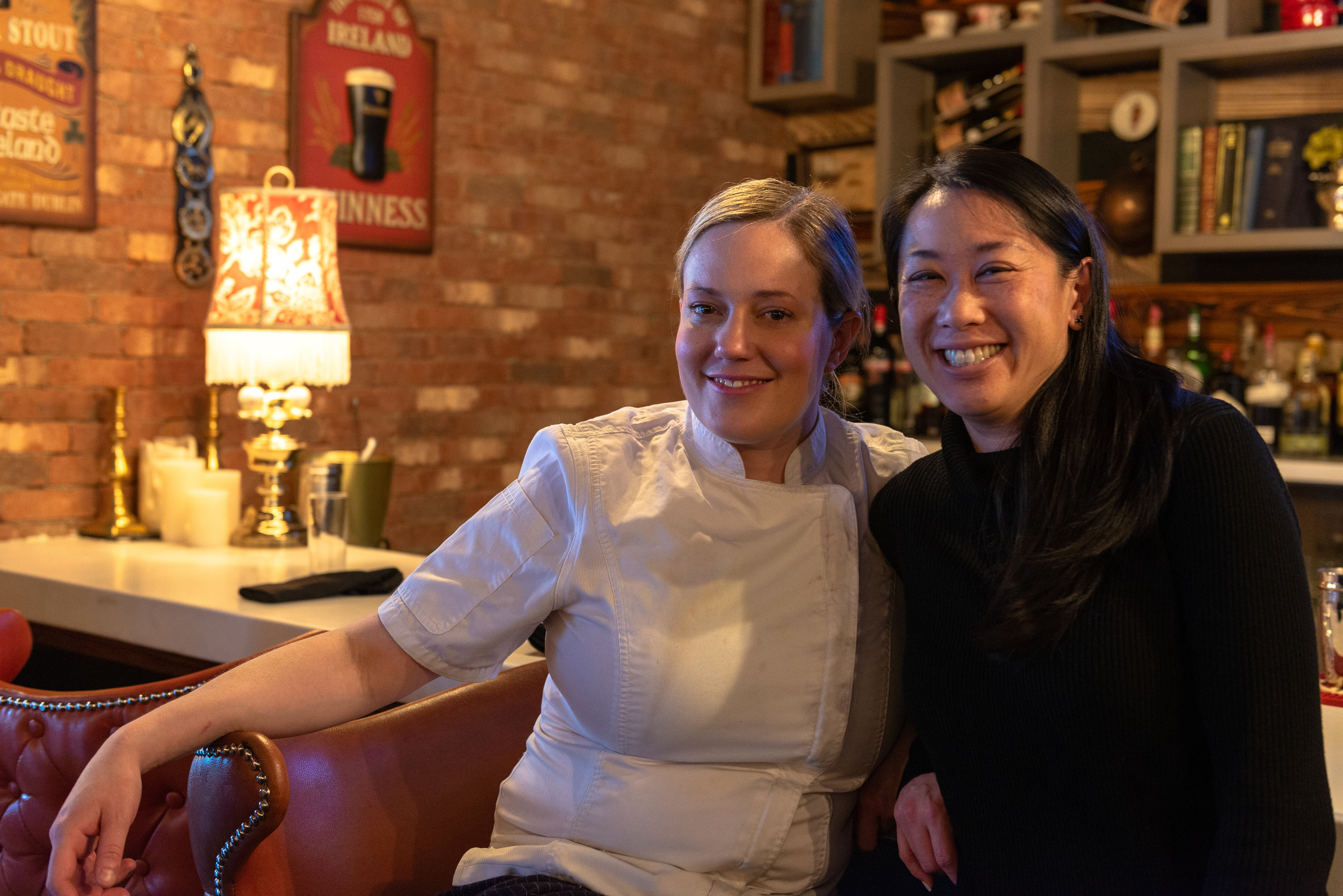Executive Chef & Owner Lindsay Porter, Owner & Manager Evonne Li