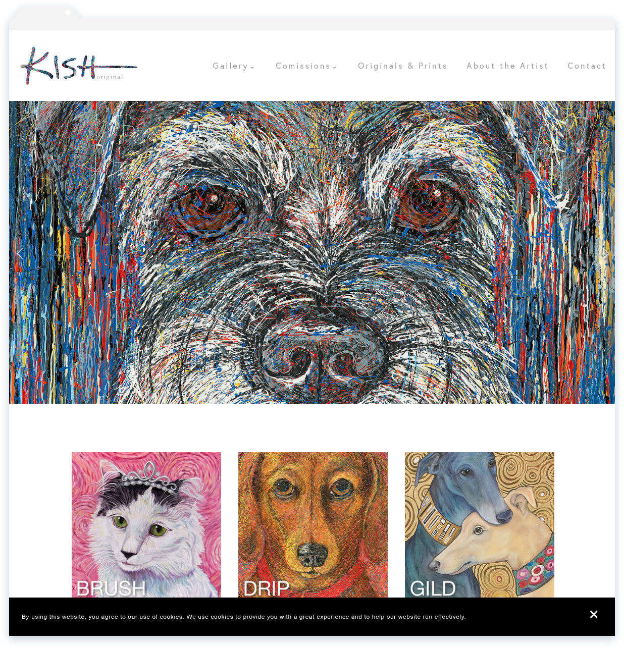 "Kish Original, Painter - ""I absolutely love my website. Lisa took my vision and made it a reality!""- Gretchen Serrano"