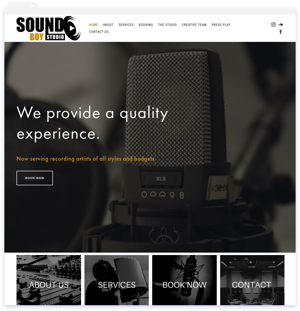 "Sound Boy, Recording Studio - ""Lisa is a beast when it comes to web design.""-Kaycee"