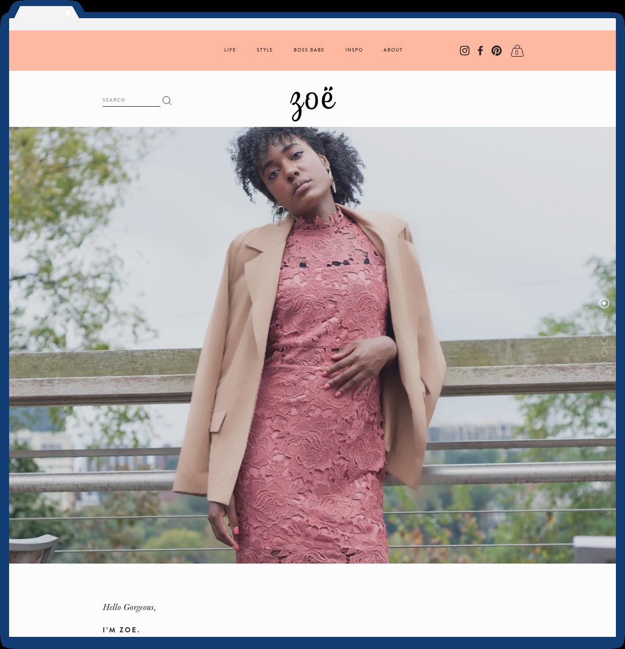Zoë Bright, Blogger -